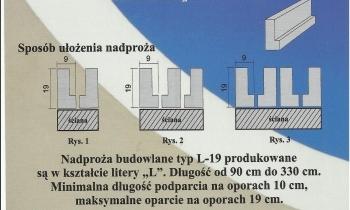 Nadproża L-19